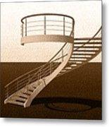 Vintage Stair 48 Escalera Caracol Helicoidal Metal Print