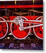 Vintage Steam Train Wheels Metal Print