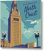 Cleveland Poster - Vintage Style Travel  Metal Print