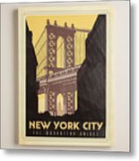 Vintage-style New York City Poster Metal Print