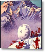 Vintage Swiss Travel Poster Metal Print