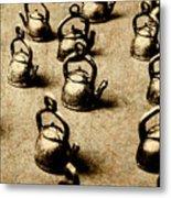 Vintage Teapot Party Metal Print