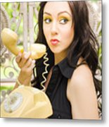 Vintage Telephone Metal Print by Jorgo Photography - Wall Art Gallery