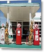 Vintage Texaco Station Metal Print