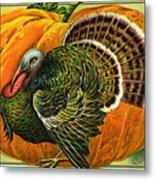 Vintage Thanksgiving Card Metal Print