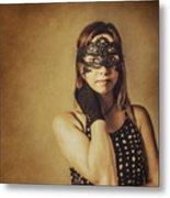 Vintage Theatre Show Girl  Metal Print