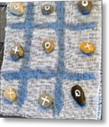 Vintage Tic Tack Toe Game. Metal Print