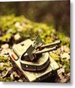 Vintage Tin Tank  Metal Print