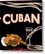 Vintage Tobacco Cuban Cigars Metal Print