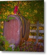 Vintage Tokheim Tank And Pump Metal Print