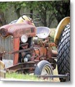 Vintage Tractor In Color Metal Print