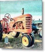 Vintage Tractors Acrylic Metal Print