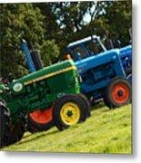 Vintage Tractors Metal Print