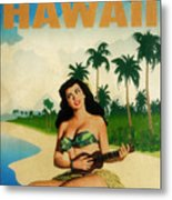 Vintage Travel Hawaii Metal Print