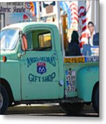 Vintage Truck with Elvis on Historic Route 66 Metal Print