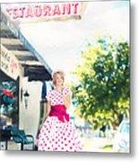 Vintage Val Ice Cream Parlor Metal Print