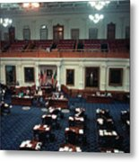 Vintage View Of The Senate Chamber, The Texas Capitol, May 1990 Metal Print