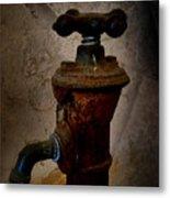 Vintage Water Faucet Metal Print by Heinz G Mielke