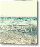 Vintage Waves Metal Print