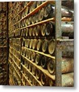 Vintage  Wine Bottles Metal Print
