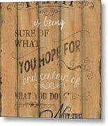 Vintage Wtlb Faith Metal Print