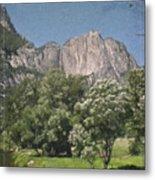 Vintage Yosemite Metal Print