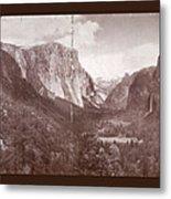 Vintage Yosemite Valley 1899 Metal Print
