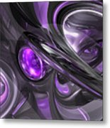 Violaceous Abstract  Metal Print