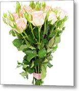 Garden Roses Bouquet Metal Print