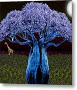 Violet Blue Baobab Metal Print