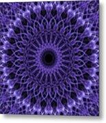 Violet Digital Mandala Metal Print