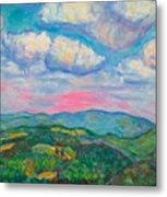 Violet Evening On Rocky Knob Metal Print