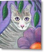 Violet Eyed Cat Metal Print
