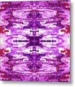 Violet Groove- Art By Linda Woods Metal Print
