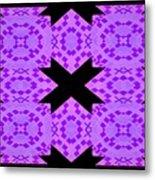 Violet Haze Abstract Metal Print