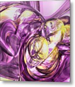 Violet Summer Abstract Metal Print