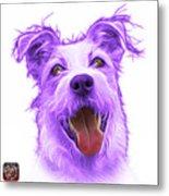 Violet Terrier Mix 2989 - Wb Metal Print