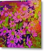 Violets Among The Heather Metal Print