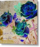 Violets Are Red- Roses Are Blue Metal Print