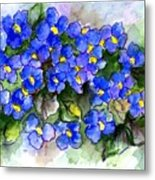 Violets Of Blue Metal Print