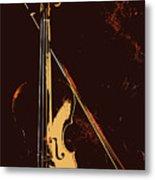 Violin And Bow  Metal Print