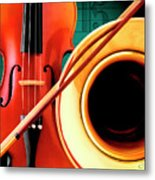Violin And French Horn Metal Print
