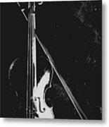 Violin Bow Black And White Metal Print