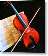 Violin Impression Metal Print
