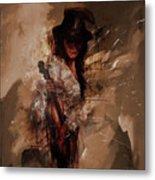 Violin Lady  Metal Print