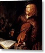 Violin Player 1653 Metal Print