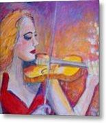 Violin Player Metal Print