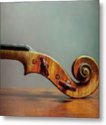 Violin Scroll Metal Print