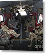 Vips In A Ch-47 Chinook Helicopter Metal Print