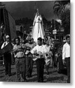 Virgen Concepcion De Ataco Bnw 2 Metal Print